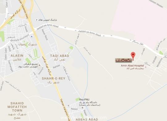 عکس نقشه نقشه دسترسی به دفتر مرکزی نکوکارتن